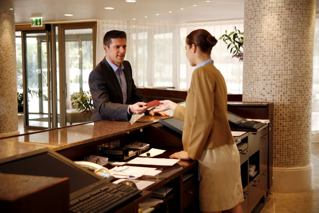 Visitor desk check in